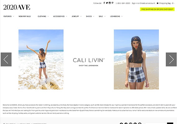 Fashion retailer 2020ave features some of the newest trends for women online.